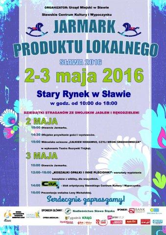 Jarmark Produktu Lokalnego Sława 2016 - plakat